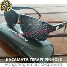Kacamata Terapi Pinhole glasses Dengan Box Mengurangi Minus Mata myopia - 1pc