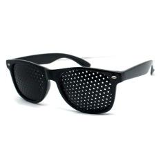 Kacamata Terapi Vision Pinhole - Hitam