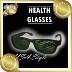 Kacamata Terapi Vision Pinhole - Hitam/ BONUS WADAH KACAMATA NYA