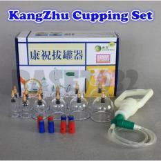 KangZhu Original Set 12 Cup Alat Bekam Kop Angin Vacuum Cupping dengan Terapi Magnet Akupuntur Kesehatan