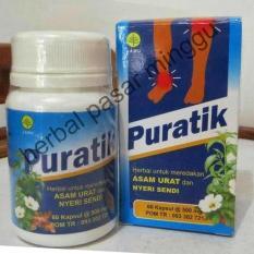 kapsul PURATIK  herbal asam urat dan reumatk (isi 60 kapsul)