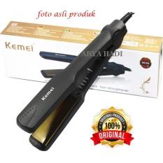 Kemei KM-329 Catokan Pelurus Rambut / Temperatur Control Styling Tools
