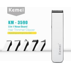 Toko Kemei Mesin Cukur Rambut Km 3590 Multigroom 5 In 1 Rechargeable Hair Clipper Yang Bisa Kredit