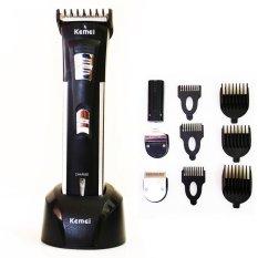 Kemei Rechargeable Hair Clipper Alat Cukur 3in1 Bayi Dan Dewasa 3006 - Hitam