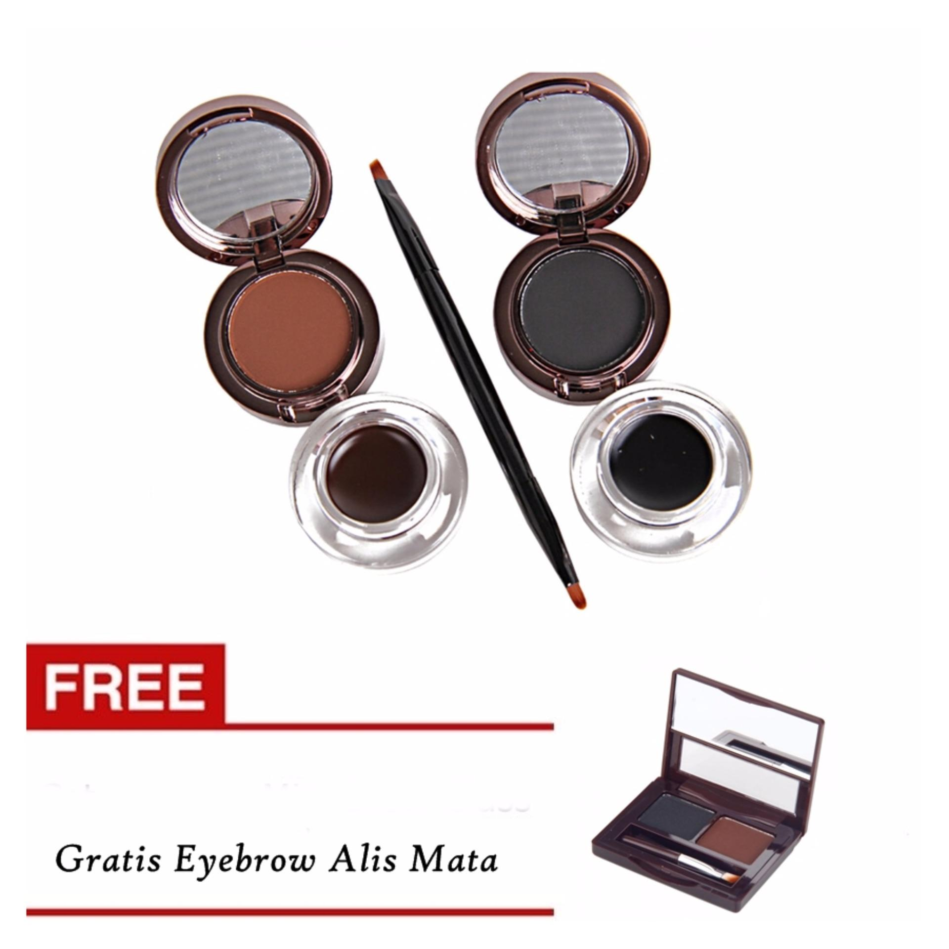 Long lasting up to 24h Kiss Beauty Alis Mata 4in1 Eyeliner & Eyebrow 24 Hours -