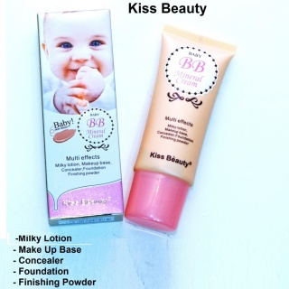 Kiss Beauty BB Mineral Cream Baby Skin Cream, Milky Lotion, Make up Base, Concealer, Foundation, Finishing Powder thumbnail
