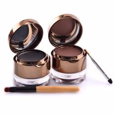 Diskon Besarcds Kiss Beauty Waterproof Gel Eyeliner Eyebrow 2 In 1 Original