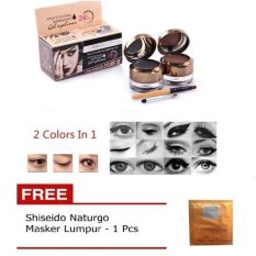 Harga Kiss Beauty Waterproof Gel Eyeliner Eyebrow 2 In 1 Free Shisedo Naturgo Fullset Murah