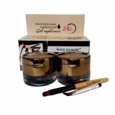 Diskon Kiss Beauty Waterproof Gel Eyeliner Eyebrow 2 In 1 Kiss Beauty Lady Gaga Original