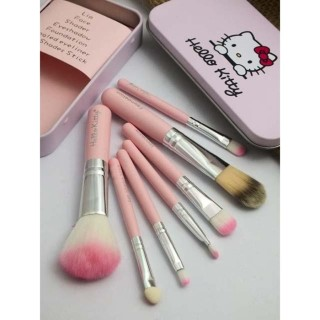 KITTY BRUSH KALENG 7 In 1 Kuas Hello Kitty Make Up Brush Set thumbnail