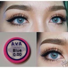Model Kitty Kawaii Mini Ava Blue Softlens Normal Gratis Lens Case Terbaru
