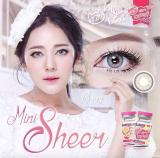 Jual Kitty Kawaii Mini Sheer Grey Softlens Minus 00 Normal Gratis Lenscase Kitty Kawaii Murah