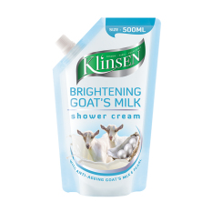 Klinsen Shower Cream Brightening Goat S Milk 500 Ml Klinsen Diskon