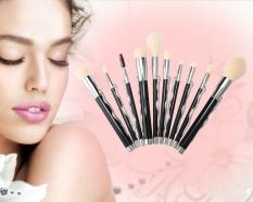 Kobwa 10 Pcs Khusus Super Soft Makeup Brush Cosmetics Foundation Blending Brush Kuas Bedak Wajah-Intl