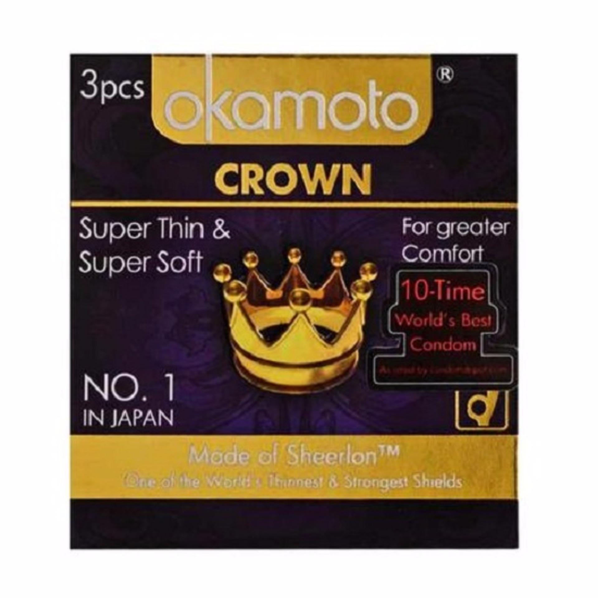 Harga baru Kondom Okamoto Crown - Kondom Tipis Import Jepang sale - Hanya Rp90.250