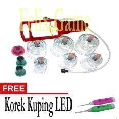 Kop Angin / Alat Bekam Isi 6 Cup +Gratis 1 Pcs Korek kuping LED