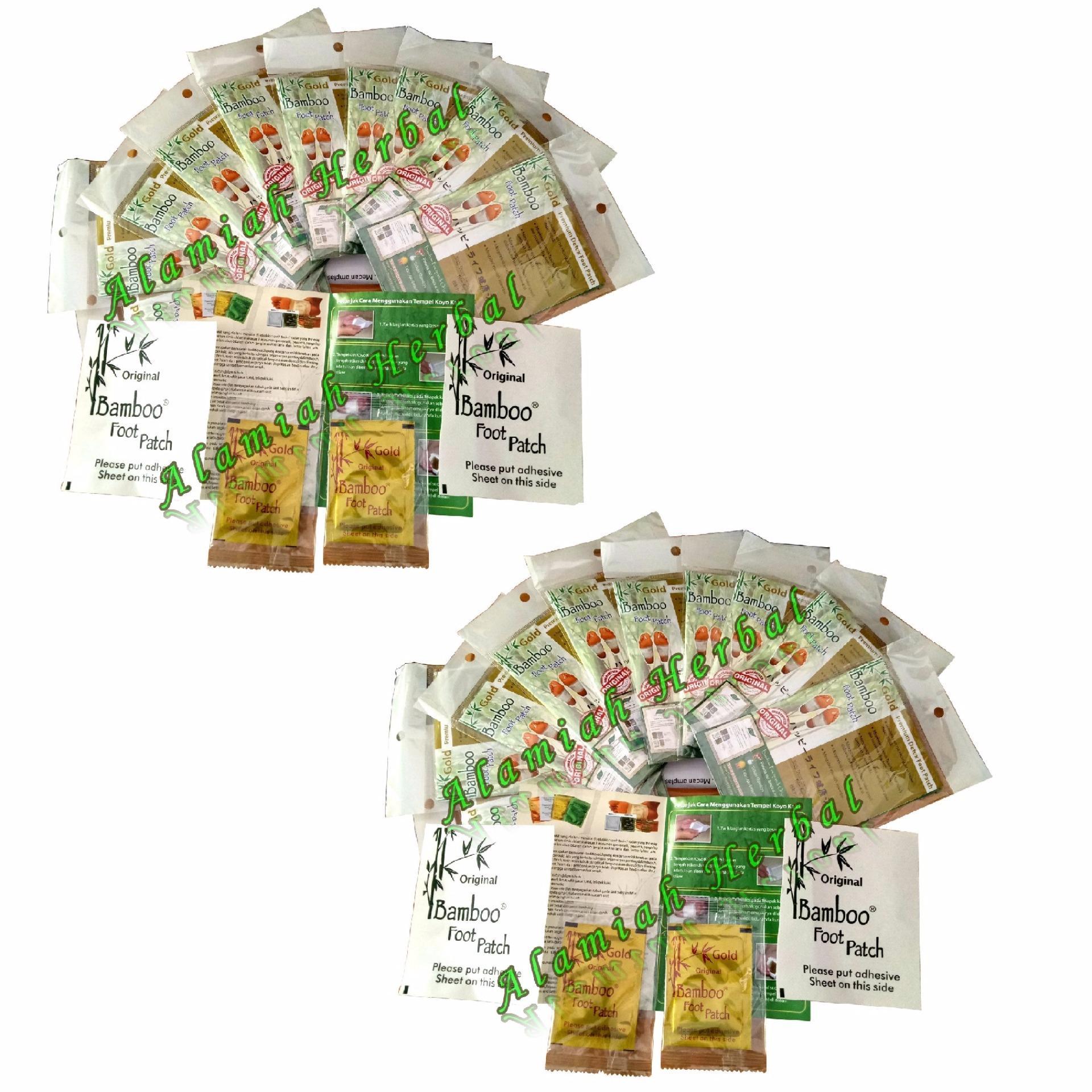 Harga preferensial Koyo Kaki Bamboo Gold premium detox Foot Patch Original guaranteed - 20 Pcs beli sekarang - Hanya Rp127.595