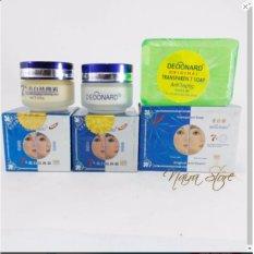 Krim Deoonard Original Blue 7 Days 25gr - 1 Paket Cream Deoonard Blue .Sabun Hiaju Anti Septic .Cream Siang. Cream Malam