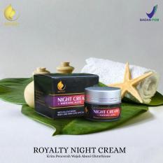 Diskon Krim Malam Pemutih Wajah Alami Menghilangkan Flek Hitam Mencegah Terjadinya Penuaan Dini Alami Dan Teruji Bpom Royalty Night Cream Whitening