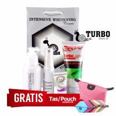 Krim Turbo Asli - Paket Perawatan Wajah Turbo Man - Free Pouch Kosmetik