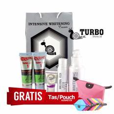 Model Krim Turbo Asli Paket Perawatan Wajah Turbo Normal Skin Free Pouch Kosmetik Terbaru
