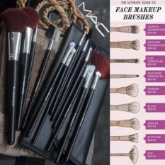 Kuas Make Up Mac 12 Pcs - Dompet Mac Brush - Makeup Brush Set
