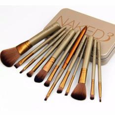 Beli Kuas Make Up Naked3 Set 12Pcs Kemasan Kaleng Makeup Brush Online Banten