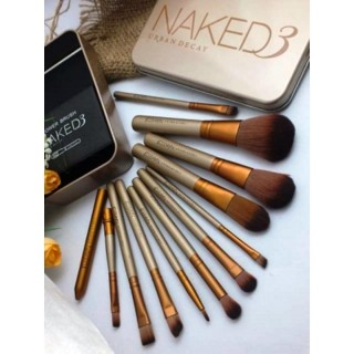 Kuas Make Up N3 Set isi 12Pcs - Makeup Brush Naked 1