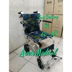 kursi roda TRAVEL ringan mudah di lipat praktis masuk cabin pesawat GRATIS TAS