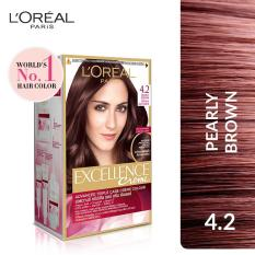 Spesifikasi L Oreal Paris Excellence Creme 4 2 Pearly Brown Paling Bagus