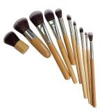 Jual La Vie 10 Buah Pegangan Bambu Set Alat Kuas Make Up Sintetis Aprikot Branded