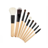 Review La Vie 9 Pcs Makeup Brushes Set Wol Kosmetik Alat Eyeshadow Kuas Bibir Apricot Oem