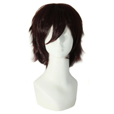 La Vie Pendek Pria Rok Dewasa Kostum Cosplay Wig Yang Mahakuasa (coklat)