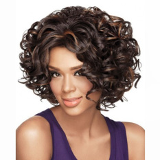 Spesifikasi La Vie Pendek Keriting Seksi 24 Tidak Berguna Renda Depan Wig Keriting Wanita Wig Coklat Lengkap