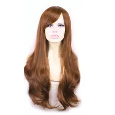 Promo La Vie Rambut Sintetis Lembut Gelombang Seksi Cosplay Wig Rambut Palsu Penuh Renda Wanita Kuning Di Tiongkok