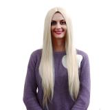 Jual Beli La Vie Wig Wanita Rambut Lurus And Panjang Putih Gradient Emas Tiongkok