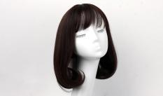 Beli Ladies Long Bagian Di Mekar Fashion Wig Sets Coklat Tua Online Terpercaya