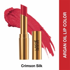 Jual Lakme Absolute Reinvent Argan Oil Lip Color Crimson Silk Lakme Original