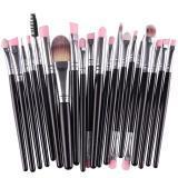 Ulasan Lalang 20 Buah Set Kuas Rias Bibir Dengan Pensil Alas Bedak Kosmetik Alat Kecantikan Kit Hitam Silver International