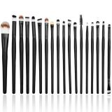 Toko Lalang 20 Pcs Makeup Brushes Set Blusher Alat Kosmetik Hitam Tiongkok