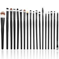 Spek Lalang 20 Pcs Makeup Brushes Set Blusher Alat Kosmetik Hitam Lalang