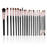 Jual Lalang 20 Buah Set Alat Makeup Sikat Kuas Kosmetik Mawar Emas Branded Murah