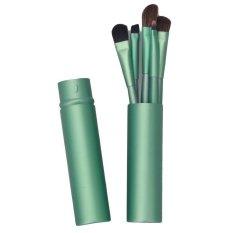 5 Buah Portabel Perona Mata Kuas Makeup Kit Alat Kosmetik (hijau) LALANG