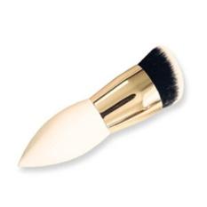 LALANG Wanita SHORT SHARP Handle Cosmetic Powder Brush Foundation Tool (Putih + Emas)