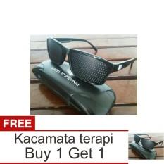 Lanjarjaya Kacamata Terapi Pinhole glasses tipe Tp-01 (bonus box) + Buy 1 Get 1