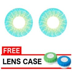 Latin 3 Tone Softlens 20.8mm - Blue + Gratis Lens Case
