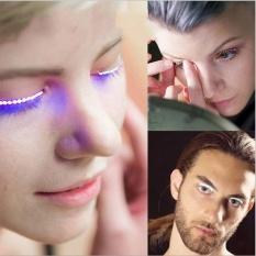 LED Bulu Mata Kelopak Mata Bulu Mata Palsu untuk Fashion Icon Saloon Pub Club Bar Pesta-Intl