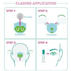 Eyelashes LED Kelopak Mata Bulu Mata Palsu untuk Fashion Icon Saloon Pub Club Bar Pesta-Intl