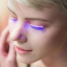 LED Eyelashes Eyelid False Eyelashes For Fashion Icon Saloon Pub Club Bar Party - intl