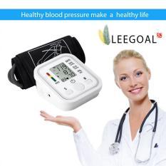 Jual Leegoal Otomatis Lengan Memonitor Tekanan Darah Digital Lcd Detak Jantung Rumah Sphgmomanometer Putih